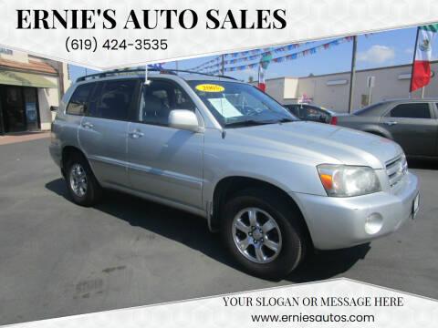 2005 Toyota Highlander for sale at Ernie's Auto Sales in Chula Vista CA