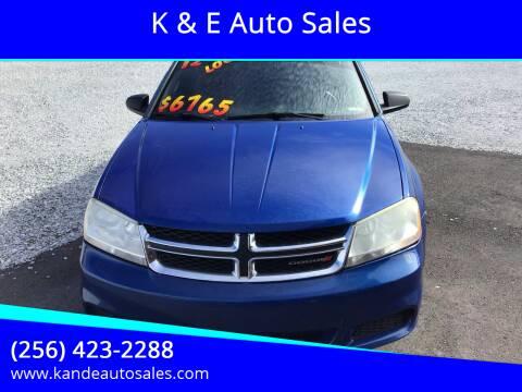 2012 Dodge Avenger for sale at K & E Auto Sales in Ardmore AL