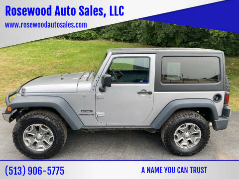 2016 Jeep Wrangler for sale at Rosewood Auto Sales, LLC in Hamilton OH