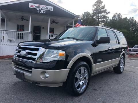 2008 Ford Expedition for sale at CVC AUTO SALES in Durham NC
