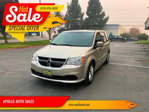 2013 Dodge Grand Caravan for sale at APOLLO AUTO SALES in Sacramento CA