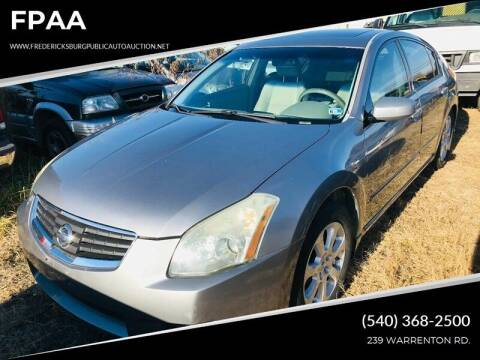 2007 Nissan Maxima for sale at FPAA in Fredericksburg VA