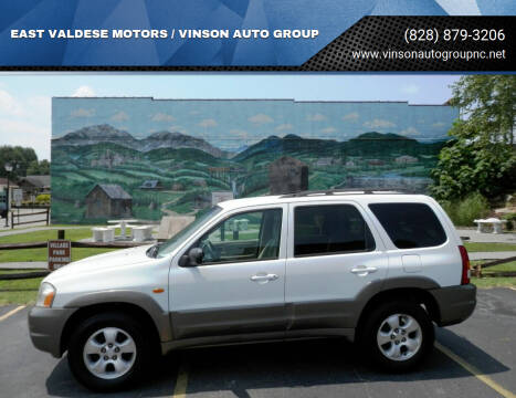 2002 Mazda Tribute for sale at EAST VALDESE MOTORS / VINSON AUTO GROUP in Valdese NC
