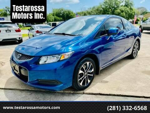 2013 Honda Civic for sale at Testarossa Motors Inc. in League City TX