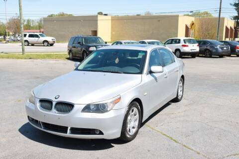 2004 BMW 5 Series for sale at SUN AUTOMOTIVE in Greensboro NC