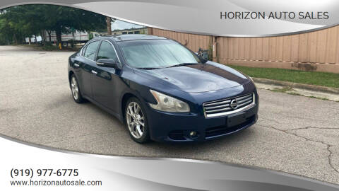 2012 Nissan Maxima for sale at Horizon Auto Sales in Raleigh NC
