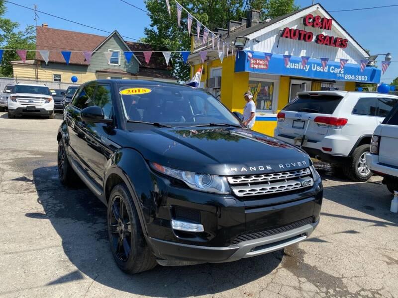2015 Land Rover Range Rover Evoque for sale at C & M Auto Sales in Detroit MI