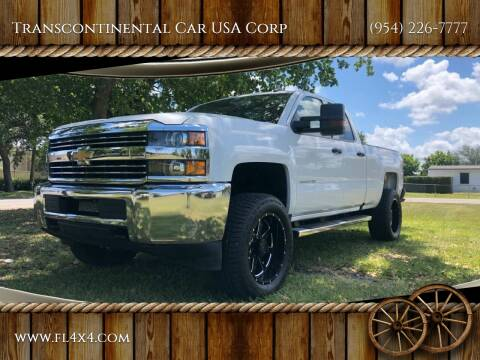 2017 Chevrolet Silverado 2500HD for sale at Transcontinental Car USA Corp in Fort Lauderdale FL