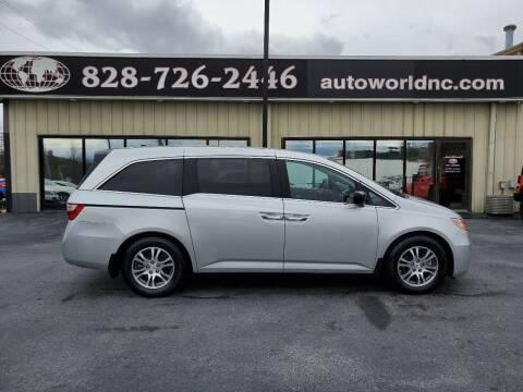 2012 Honda Odyssey for sale at AutoWorld of Lenoir in Lenoir NC