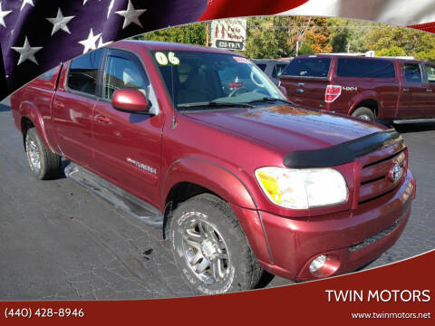 2006 Toyota Tundra for sale at TWIN MOTORS in Madison OH