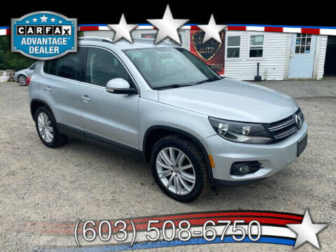 2012 Volkswagen Tiguan for sale at J & E AUTOMALL in Pelham NH