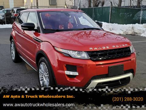 2012 Land Rover Range Rover Evoque for sale at AW Auto & Truck Wholesalers  Inc. in Hasbrouck Heights NJ