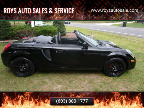 2001 Toyota MR2 Spyder for sale at Roys Auto Sales & Service in Hudson NH