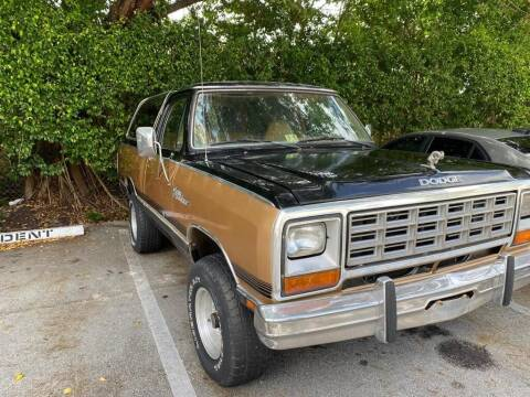 1985 Dodge Ramcharger for sale at Elite Cars Pro in Oakland Park FL