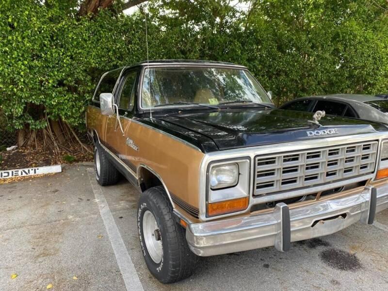 1985 Dodge Ramcharger for sale at Elite Cars Pro in Oakland Park FL