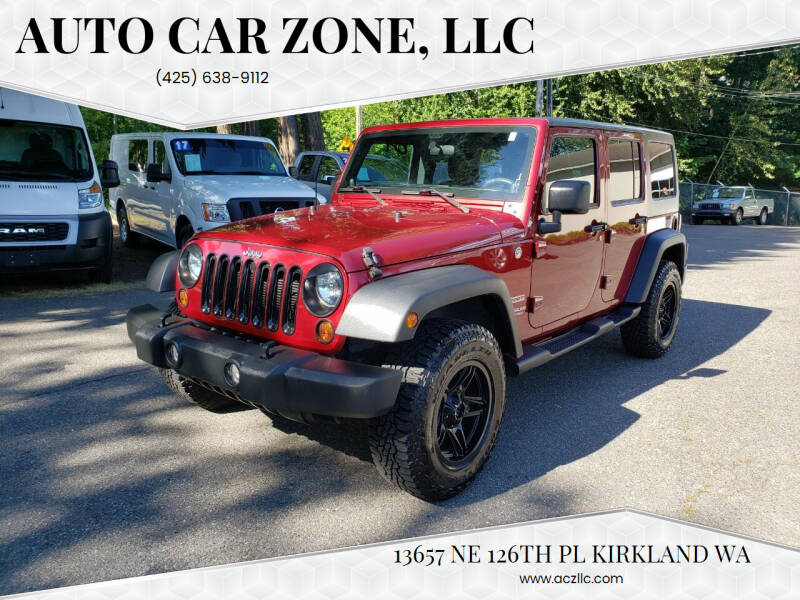 2012 Jeep Wrangler Unlimited for sale at Auto Car Zone, LLC in Kirkland WA