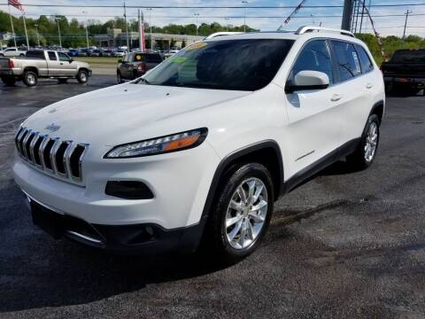 2014 Jeep Cherokee for sale at Moores Auto Sales in Greeneville TN