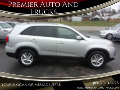 2014 Kia Sorento for sale at Premier Auto And Trucks in Independence MO