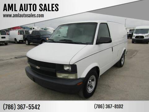 2002 Chevrolet Astro Cargo for sale at AML AUTO SALES - Cargo Vans in Opa-Locka FL