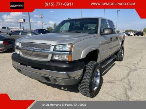 2004 Chevrolet Silverado 2500HD for sale at SOUTHWEST AUTO GROUP-EL PASO in El Paso TX