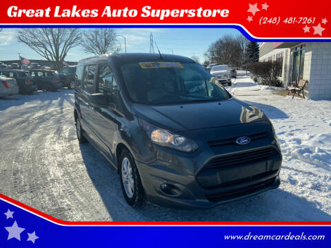 2015 Ford Transit Connect Wagon for sale at Great Lakes Auto Superstore in Pontiac MI