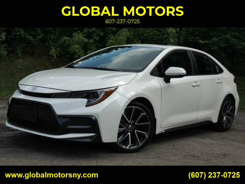 2020 Toyota Corolla for sale at GLOBAL MOTORS in Binghamton NY