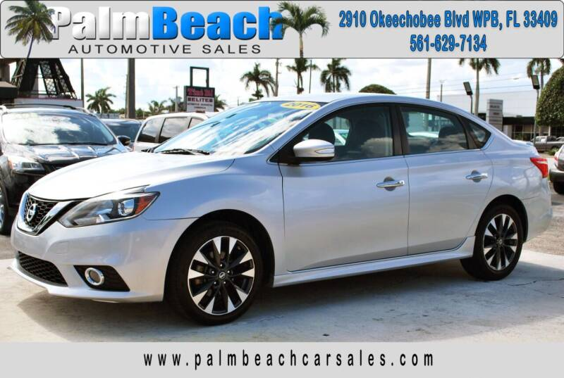 2016 Nissan Sentra for sale at Palm Beach Automotive Sales in West Palm Beach FL