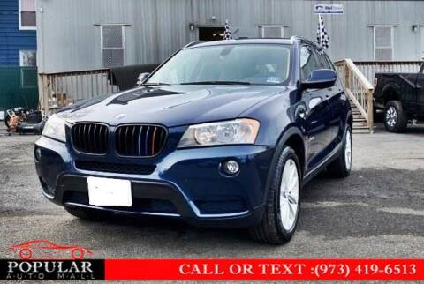 2013 BMW X3 for sale at Popular Auto Mall Inc in Newark NJ