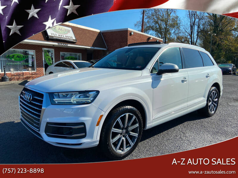 2017 Audi Q7 for sale at A-Z Auto Sales in Newport News VA