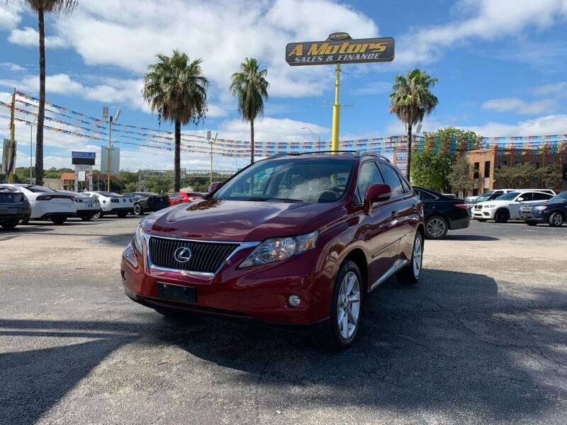 2010 Lexus RX 350 for sale at A MOTORS SALES AND FINANCE in San Antonio TX