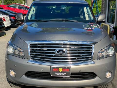 2014 Infiniti QX80 for sale at Route 123 Motors in Norton MA