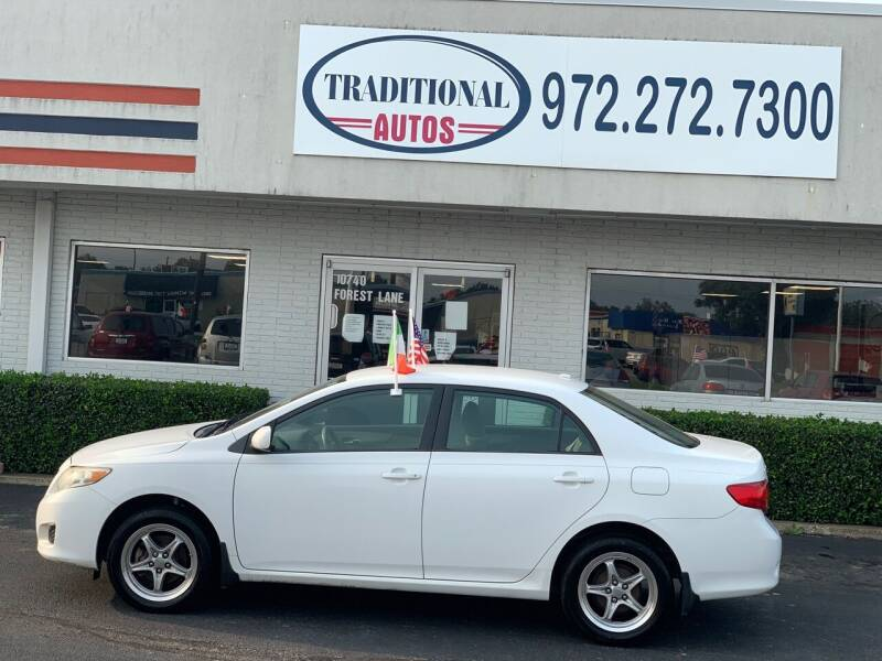2009 Toyota Corolla for sale at Traditional Autos in Dallas TX