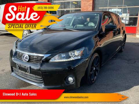 2011 Lexus CT 200h for sale at Elmwood D+J Auto Sales in Agawam MA