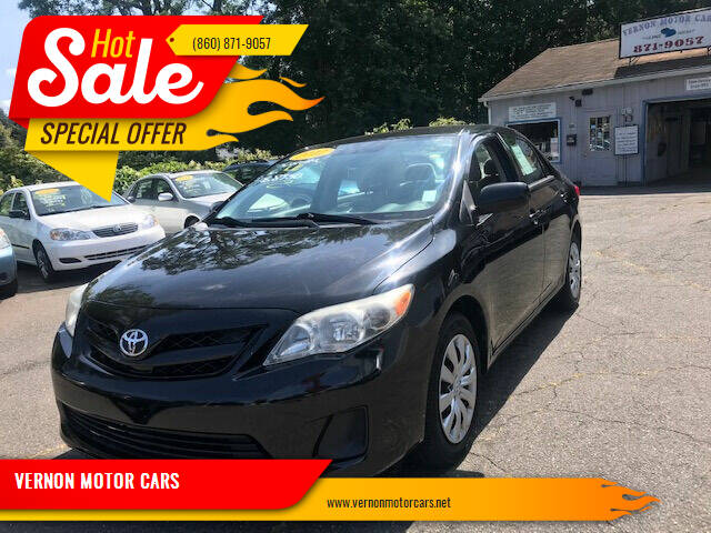 2012 Toyota Corolla for sale at VERNON MOTOR CARS in Vernon Rockville CT