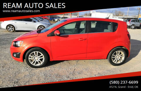 2012 Chevrolet Sonic for sale at REAM AUTO SALES in Enid OK