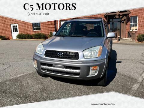 2001 Toyota RAV4 for sale at C5 Motors in Marietta GA