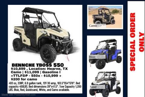 2021 BENNCHE T BOSS 550 for sale at JENTSCH MOTORS in Hearne TX