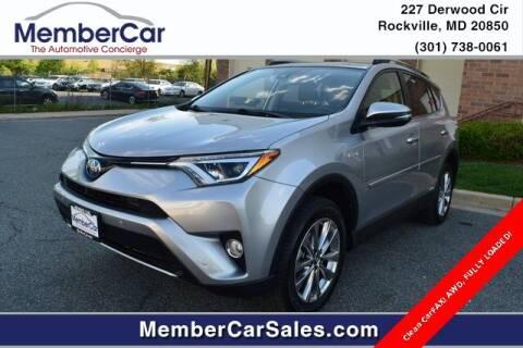 2018 Toyota RAV4 Hybrid for sale at MemberCar in Rockville MD