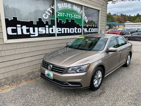 2016 Volkswagen Passat for sale at CITY SIDE MOTORS in Auburn ME