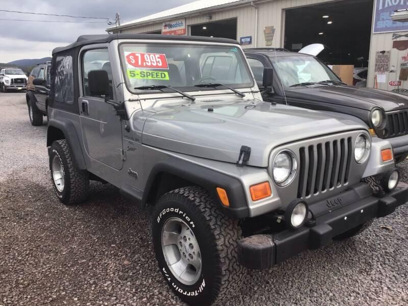 2001 Jeep Wrangler for sale at Troys Auto Sales in Dornsife PA