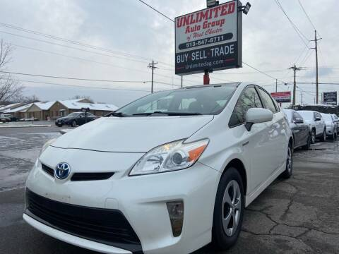 2012 Toyota Prius for sale at Unlimited Auto Group in West Chester OH