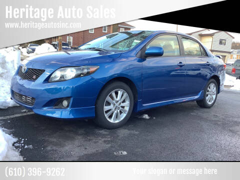 2010 Toyota Corolla for sale at Heritage Auto Sales in Reading PA