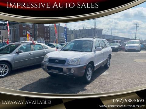 2004 Hyundai Santa Fe for sale at Impressive Auto Sales in Philadelphia PA