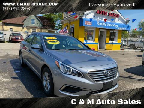 2016 Hyundai Sonata for sale at C & M Auto Sales in Detroit MI