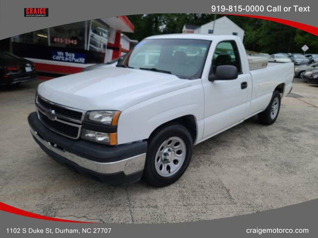 2007 Chevrolet Silverado 1500 Classic for sale at CRAIGE MOTOR CO in Durham NC