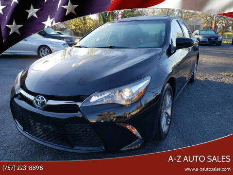 2015 Toyota Camry for sale at A-Z Auto Sales in Newport News VA