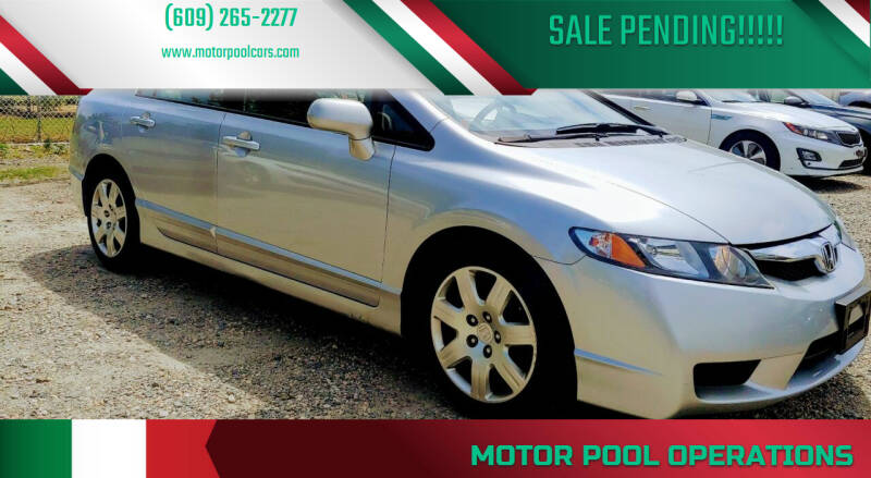 2009 Honda Civic for sale at Motor Pool Operations in Hainesport NJ