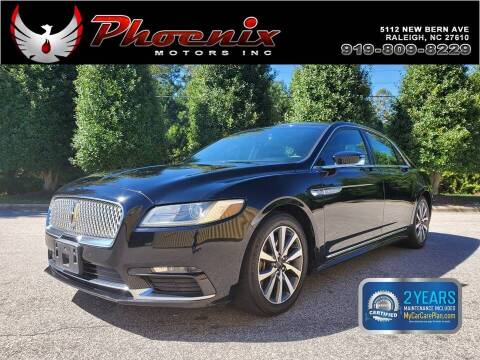2017 Lincoln Continental for sale at Phoenix Motors Inc in Raleigh NC