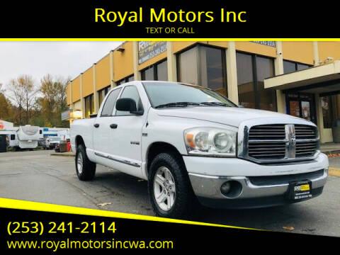 2008 Dodge Ram Pickup 1500 for sale at Royal Motors Inc in Kent WA