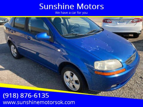 2006 Chevrolet Aveo for sale at Sunshine Motors in Bartlesville OK